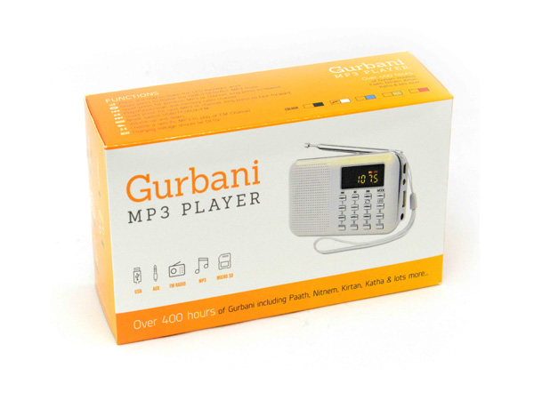 Katha /& Kirtan : White Punjabi Roots Gurbani MP3 Player with over 800 Hours of Pre Loaded Plath Sukhmani Sahib /& Lots More Paath Nitnem